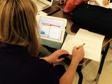 Teachers downloaded the Mystery file from a shared Google Drive folder and read the text on their iPads or Chromebooks.
